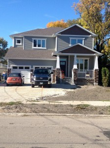 Our house.. thankfully this spring is paving the driveway and front landscaping