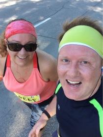 Midway through the Manitoba Half Marathon